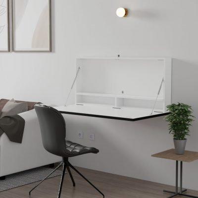 DropTop Folding desk designed for double screens
