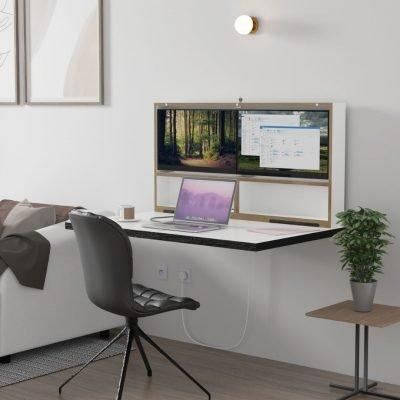 DropTop Folding computer desk with inbuilt screens