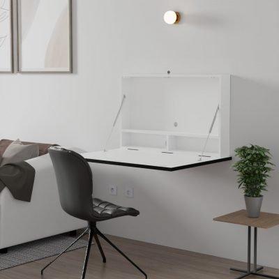 DropTop Folding desk designed for ultra wide screen